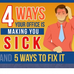 4 Ways Your Office is Making You Sick (And 5 Ways to Fix It)