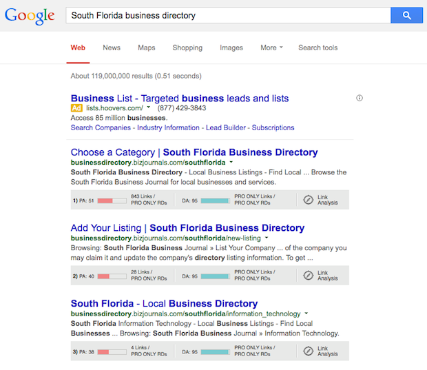 local business directory example