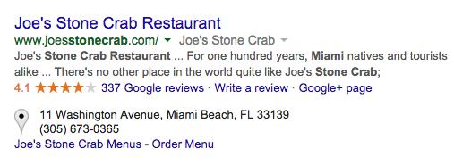 local Google reviews