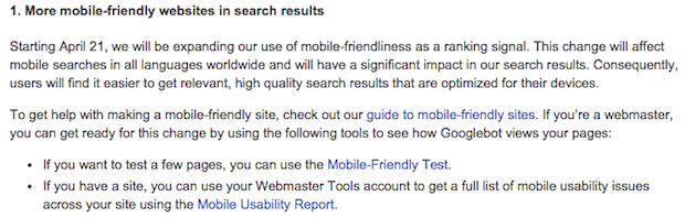 Mobile-Friendly is Now a Google Search Algorithm Factor