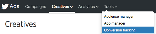 Twitter conversion tracking