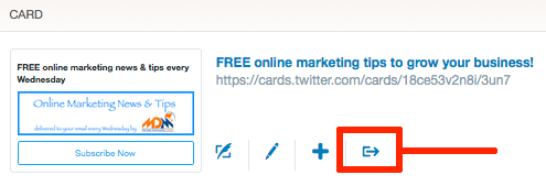 how to downlaod Twitter Lead Generation card emails