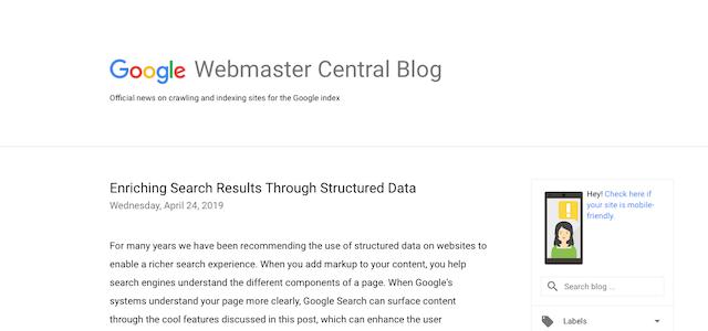 Google Webmaster Central SEO Blog