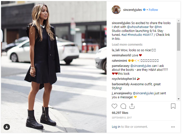 Swedish clothing Influencer Marketing